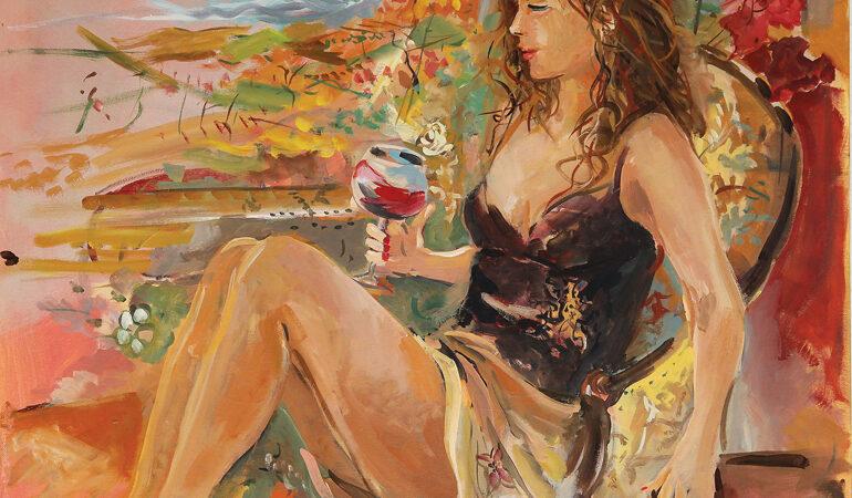 LE MUSE DEL BAROLO A CASTIGLIONE. Vino, musica e poesia nei dipinti di Gianni Pascoli