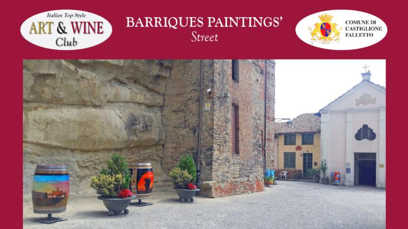 A CASTIGLIONE FALLETTO LE BOTTI DIPINTE ROTANTI. Inaugurata Barriques Paintings' Street